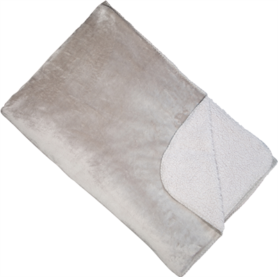 Cosy double sided throw Grey