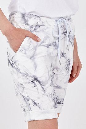 Magic Crushed Tie-Dye Shorts GREY