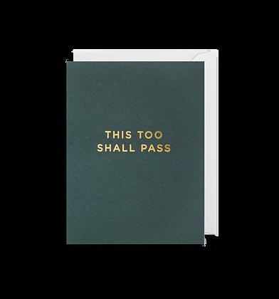 LAGOM This Too Shall Pass Mini Card
