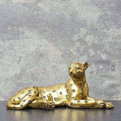 Leopard lying ornament
