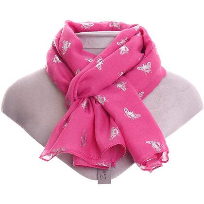 Metallic Bee Scarf - Pink