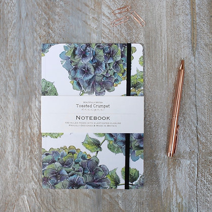 Hydrangea Pure A5 Lined Notebook