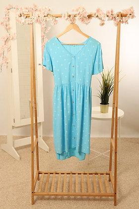 Denim Blue Daisy Spot Tunic Dress S/M