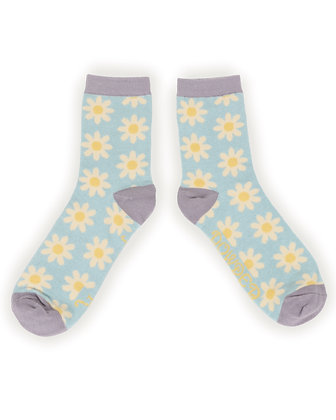 POWDER Daisy Ice Blue Ankle Socks