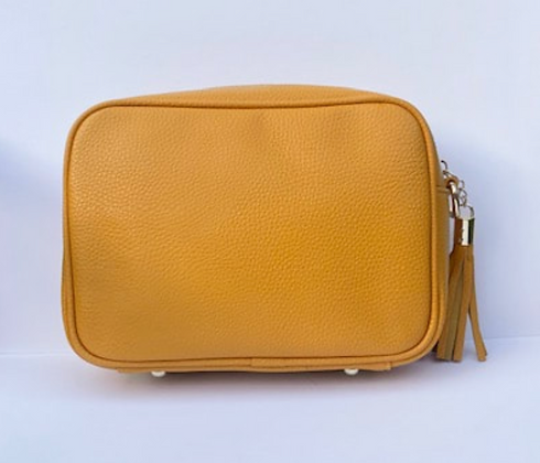 Mustard Single Zip Cross Body Bag