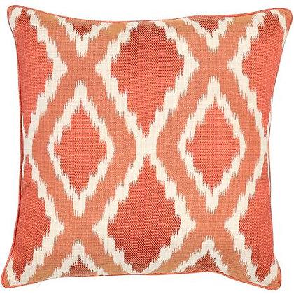 Ikat diamond style cushion feather filled