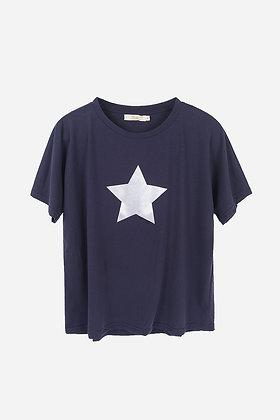 Navy Silver Star Top MEDIUM