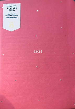Busy B Diary Perfect Planner 2021 Pink