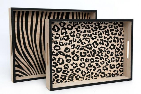 SIFCON Leopard Animal Print Tray