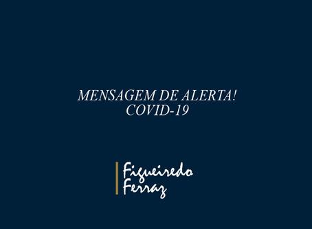 MENSAGEM DE ALERTA COVID-19