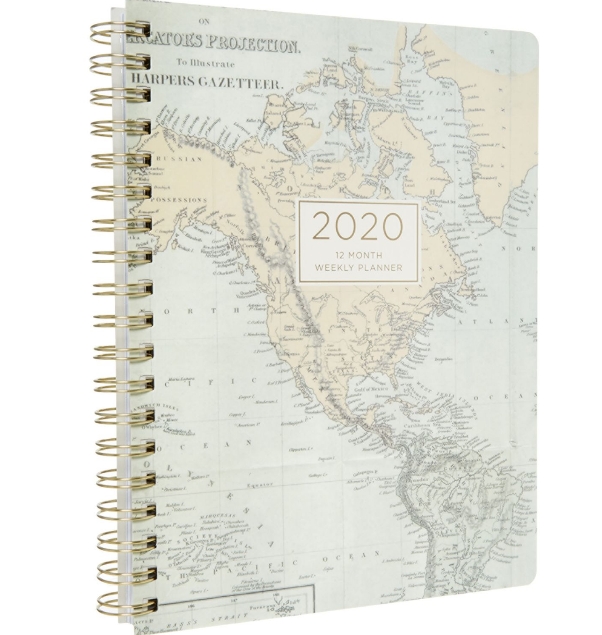 RR358 - Blue World Map 2020 Planner