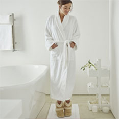 RR064- White Company Bathrobe