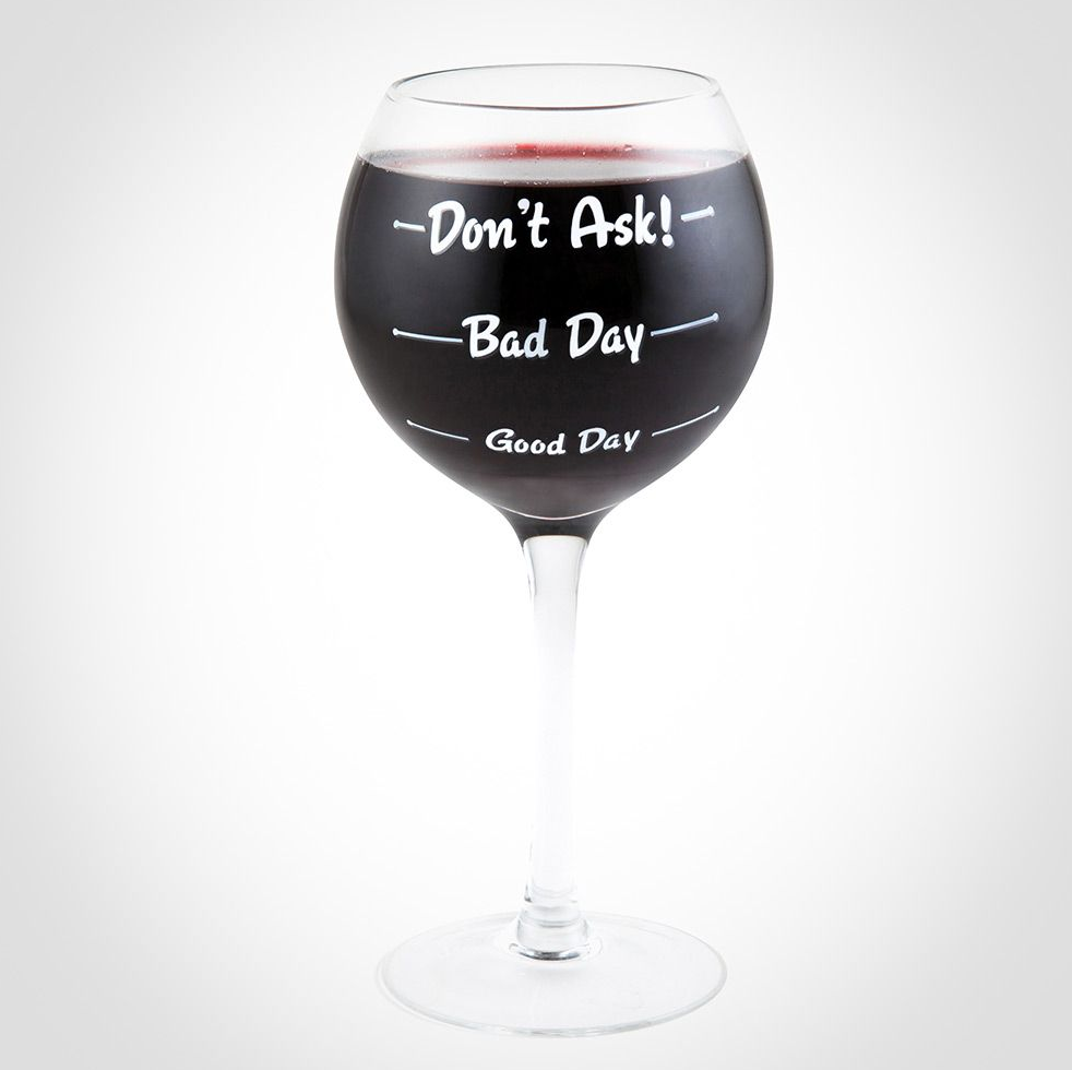 RR359 - How Was Your Day Wine Glass
