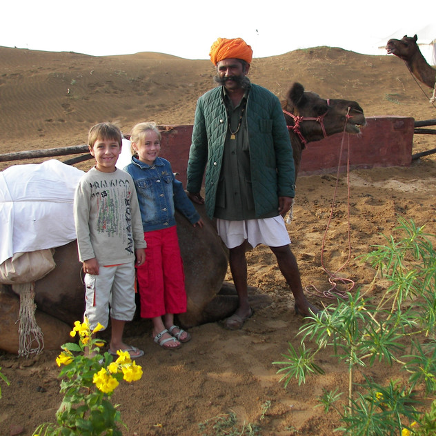 About to hop on a camel, Rajasthan