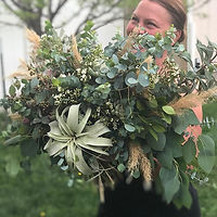 This certainly was a fun bridal bouquet