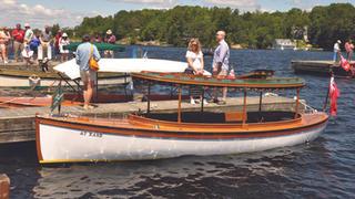 At Ease- 1896 23' Dan Kidney Canoe Stern Launch