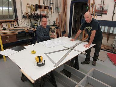 Peter, Jeffrey, & Herb starting a build