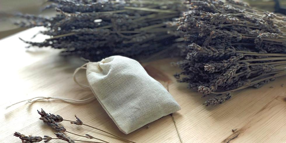 Lavender Sachet  ドライハーブ ラベンダーで作る匂い袋