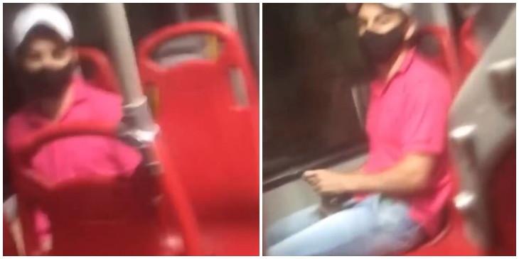 Mujer grabó a un hombre  que se estaba masturbando