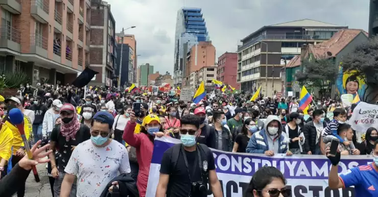 Marchas  en Colombia Día del Trabajo 1 de mayo