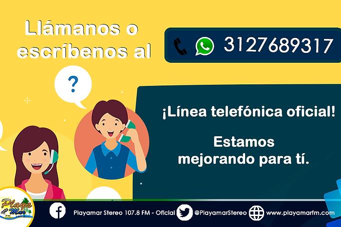 Playamar Stereo. Linea Celular