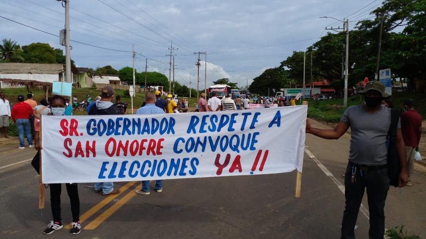 San Onofrinos exigen elecciones y cumplimiento del fallo del tribunal