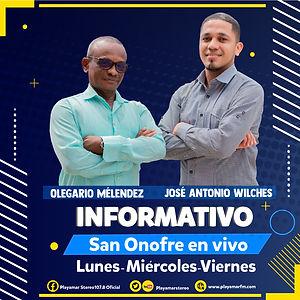 Playamar Stereo - Informativo San Onofre en vivo- Jose Antonio Wilches
