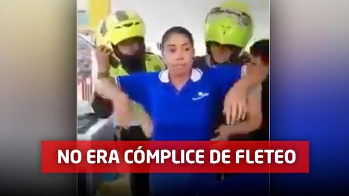 Policía aclara verdadera historia de video viral donde una mujer se levanta la blusa ante uniformado