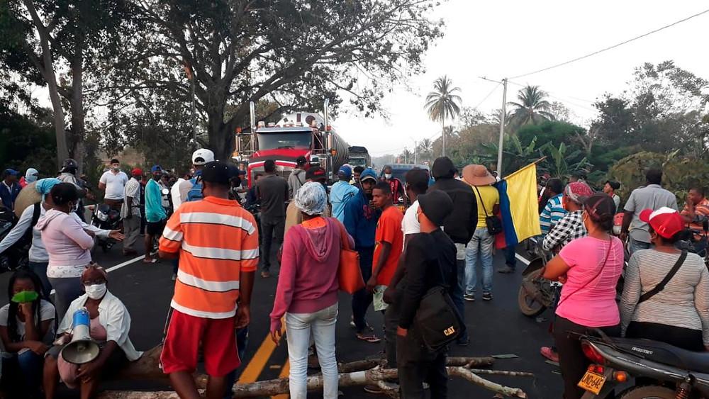 Protestas en Nispero, protestas en Bolivar, Playamar Stereo, San ONofre