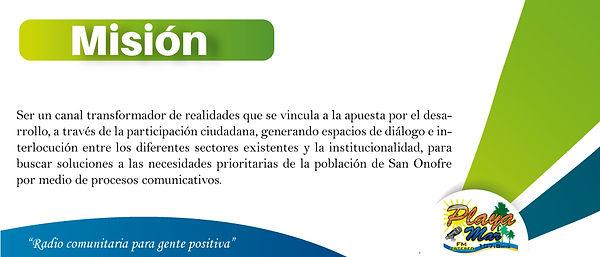 Misión - Playamar Stereo 107.8 fm
