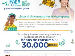 Concurso Buena paga Surtigas y Playa Mar Stereo