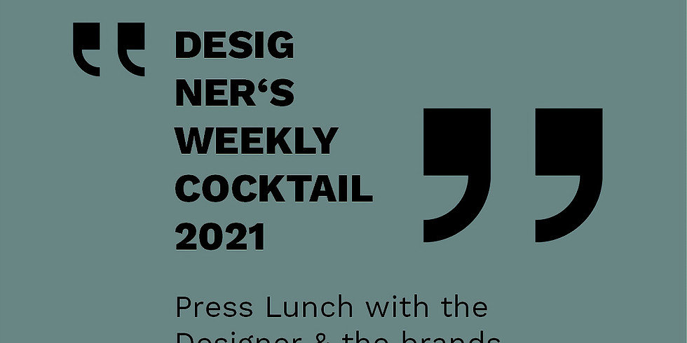 Press Lunch with the Designer Sebastian Herkner & the brands (only for press)