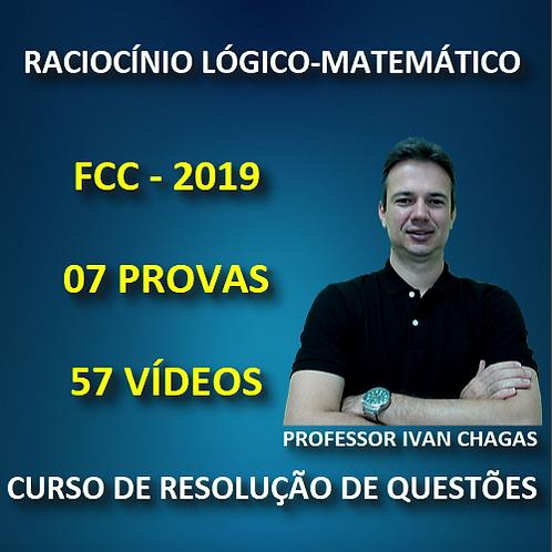 FCC 2019 - RACIOCÍNIO LÓGICO-MATEMÁTICO - PDF + 57 VÍDEOS