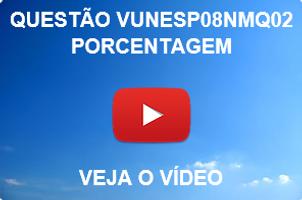 VUNESP08NMQ02 - VUNESP - 2015 - UNESP - PORCENTAGEM
