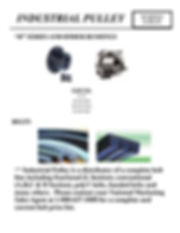 """Industrial Pulley, Bushing and Belts, """"H"""" Series and Other Bushings, Belts, SH, SDS, SD"""