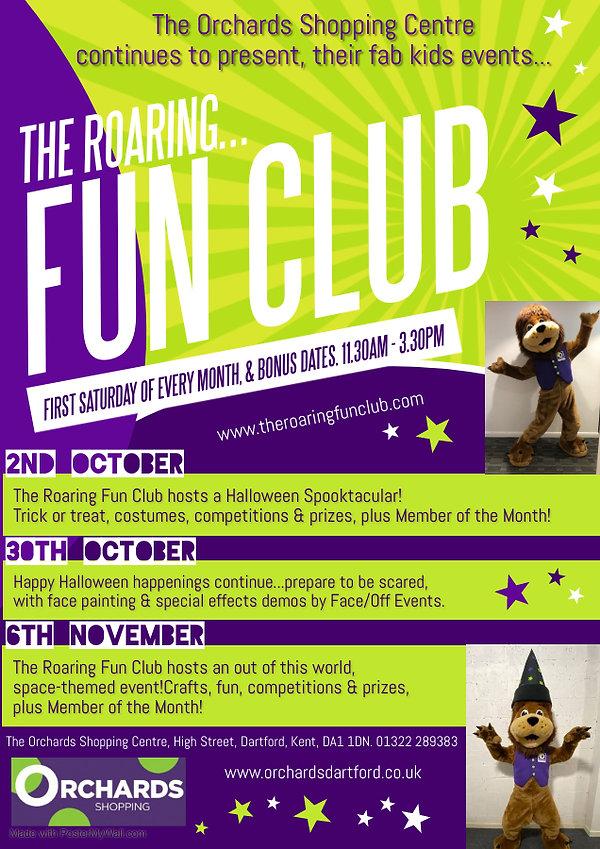 The Roaring Fun Club Events 2021