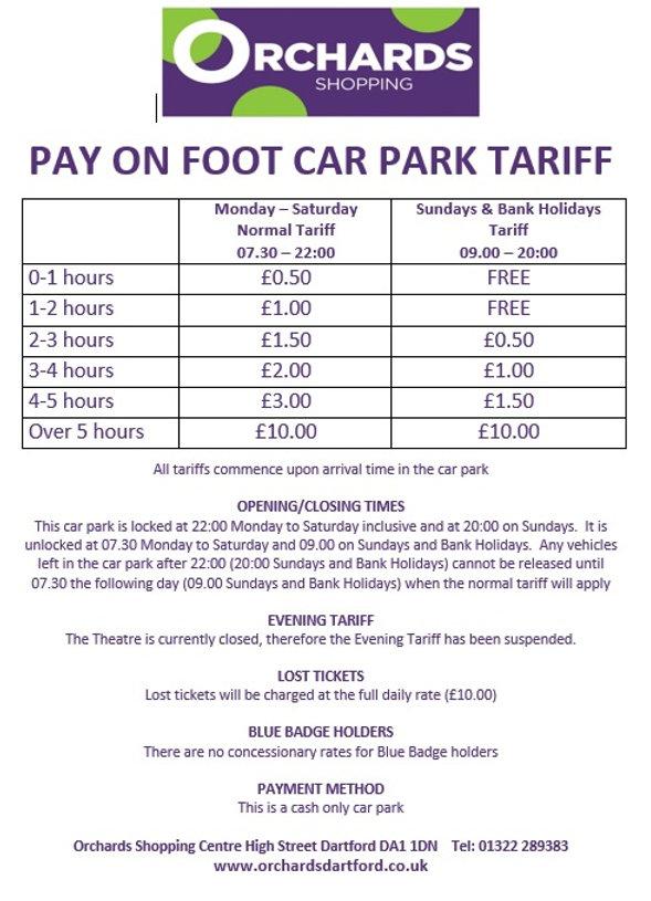 Car Park Tariff