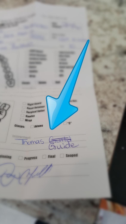 "Trace Ortho Lab ""Thomas Guide"" Custom Appliance"