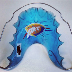 We're sure the Seattle fan who requested this retainer swag will be pleased as punch after OKC beat