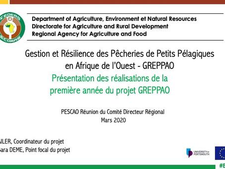 Présentation des réalisations GREPPAO / Réunion du comité de pilotage du PESCAO (Mars 2020)