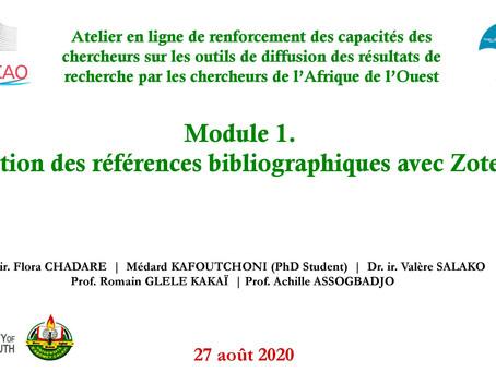 M1 Gestion des références bibliographiques avec Zotero