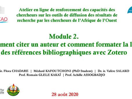 M2 comment citer un auteur et comment formater la liste des références bibliographique avec Zotero