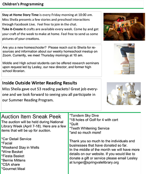 March 2021 Newsletter Page 3