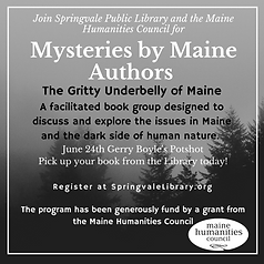 Mysteries by Maine Authors Poster with M