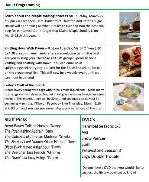 March 2021 Newsletter Page 2