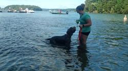 Gina LOVES to swim!