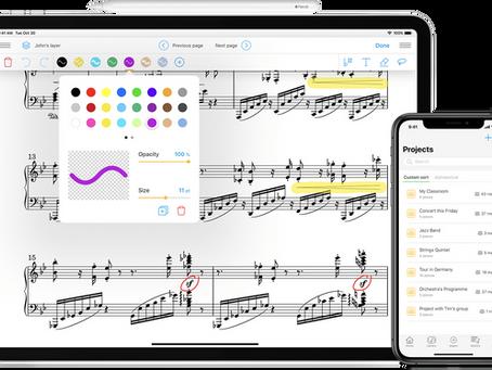 NewZik ou comment lire des partitions sur iPad et ses accessoires (pédale, pupitre, scanners)