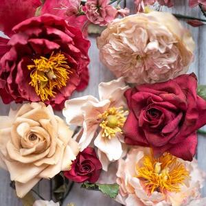 Sugar peonies, roses, anemone