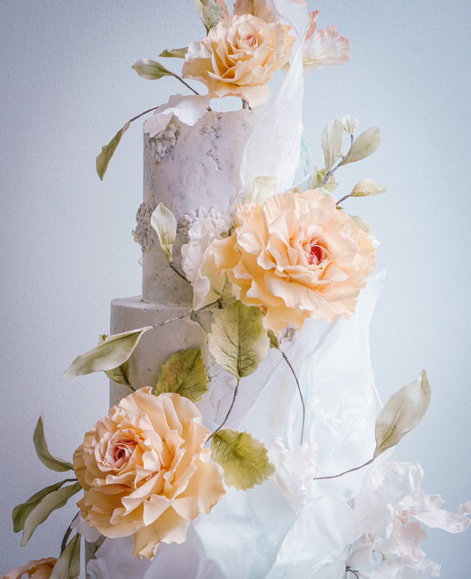 Fantasy frilly roses, parrot tulips & wafer paper sails 2.JPG