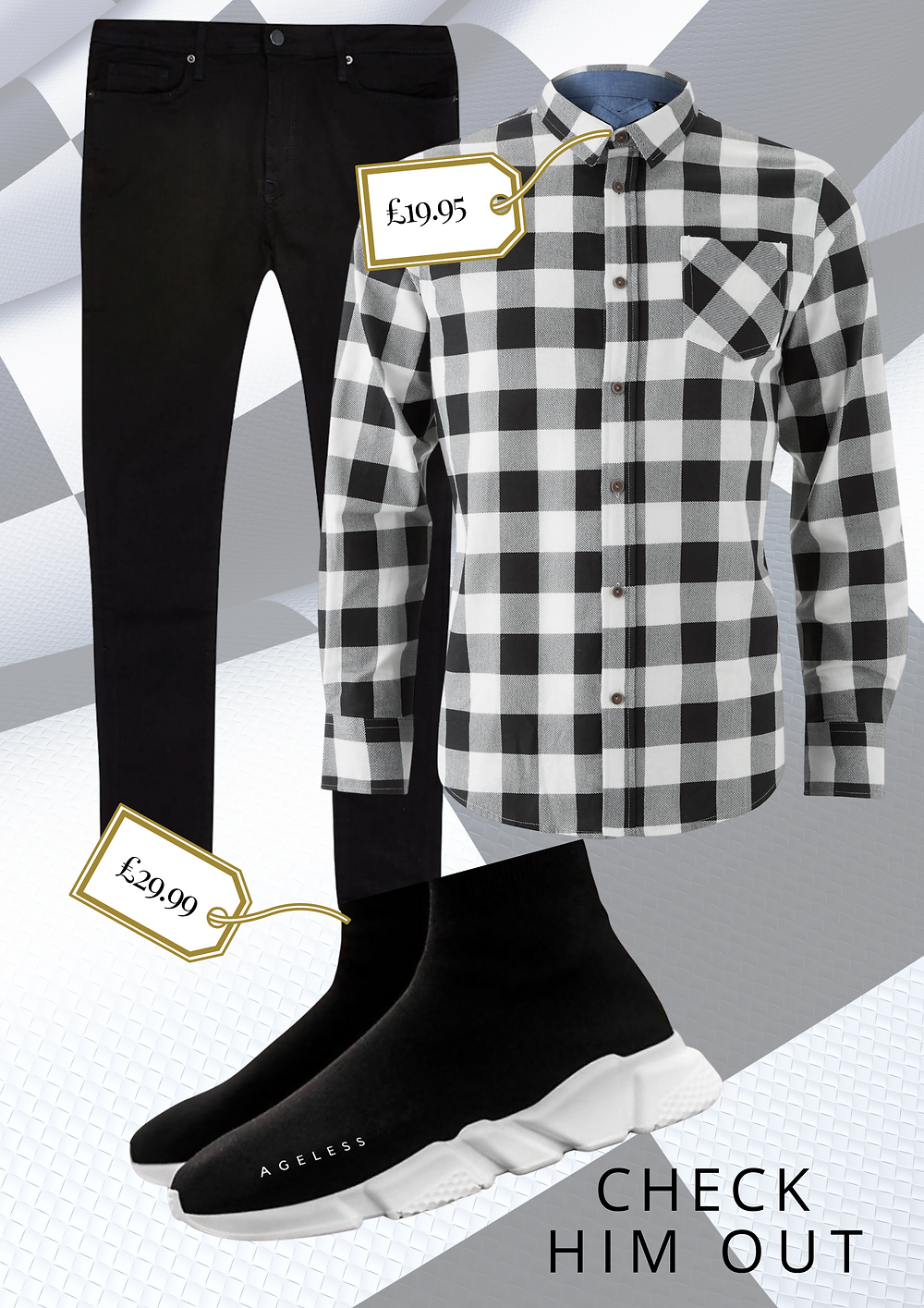 AGELESS MENS CHECKED SHIRTS